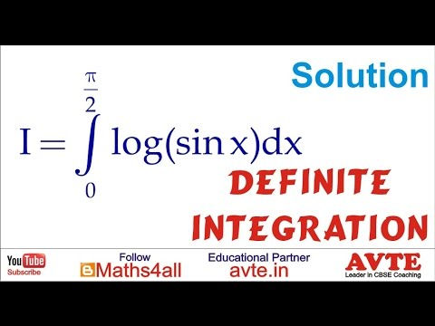 Definite Integration of log (sinx), 0 to pi/2, Class XII
