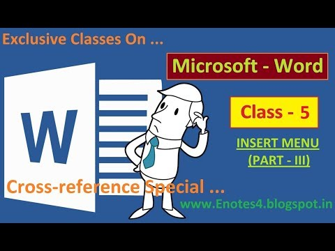 MS Word In Hindi  (Class - 5) Cross-reference Special