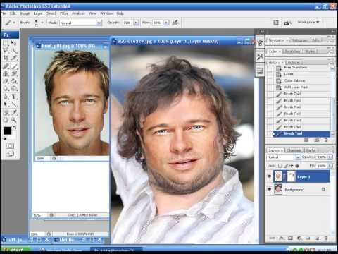 Photoshop tutorial on Face swapping.
