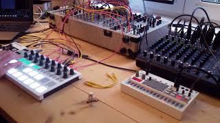 Live Jam #107 - Melodic / Space - Eurorack Modular Synthesizer, Arturia Beatstep Pro, Mircobrute