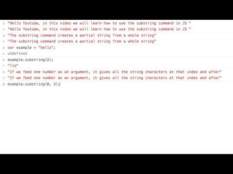 Using the substring method in Javascript