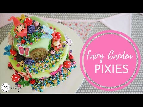 CHILDREN'S BIRTHDAY CAKE DECORATING IDEAS - Fondant Icing Fairy Garden Part 1