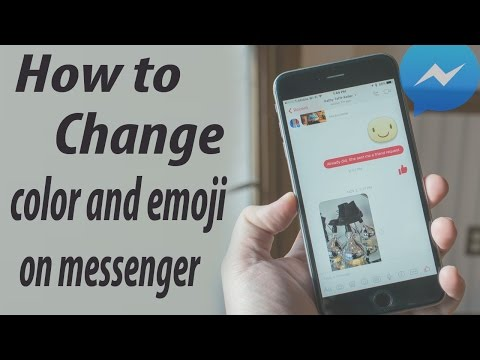 How to Change color and emoji on messenger