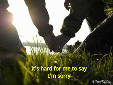 Hard to say I'm sorry lyric