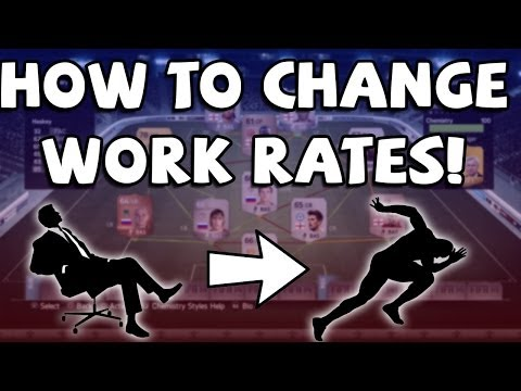 FIFA 14 Ultimate Team - HOW TO CHANGE WORK RATES!!!