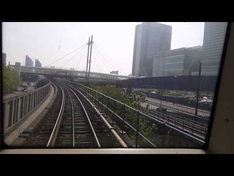 London Docklands Light Railway DLR 'Cab Ride' Bank Station to Woolwich Arsenal, April 2014