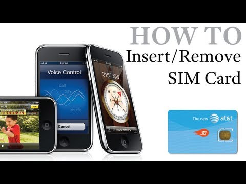 iPhone How To: Insert / Remove a SIM Card [iPhone, iPhone 3G & iPhone 3GS]