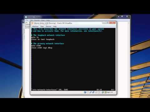 [Linux] Tutorial: Setting a static IP in Ubuntu Server [HD]