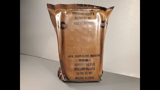1993 US MRE Smoked Frankfurters Review Vintage Meal Ready to Eat Tasting Test