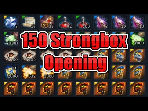 Tera Console - 150 Strongbox Opening | Research & Results