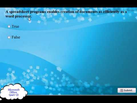 Microsoft Office Practice 200720102013 2014 Exam Q and A pt 2