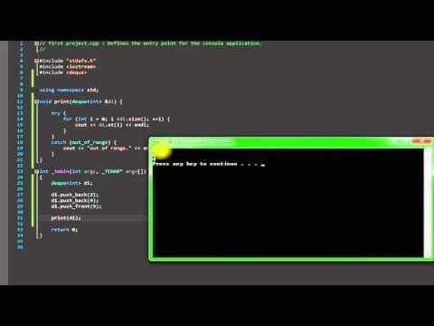 C++ Deque (part1)
