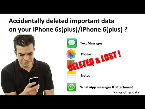 How to recover deleted text messages, photos, contacts, notes, WhatsApp on iPhone se/6s/6/5s?