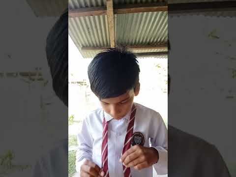 How to tie a tie in hindi