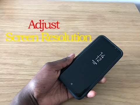 Samsung Galaxy S8/S9 Plus - How To Adjust Screen Resolution