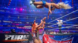14 fearless moonsaults to the floor: WWE Fury