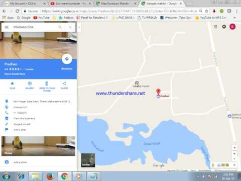 How to upload image on google map in hindi
