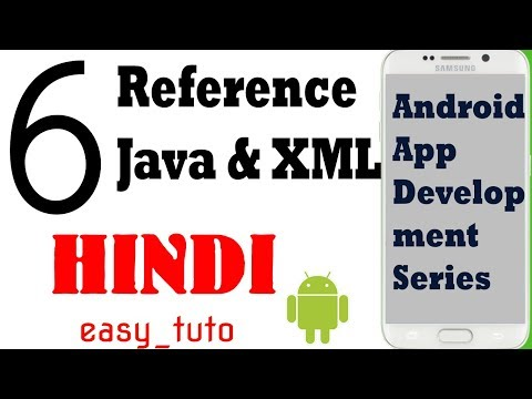 6 Referencing variables in java with XML  | Android App Development Series | HINDI | HD