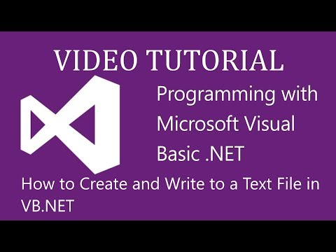 Write Text File VB.NET -: Reading, Writing, and Sorting text files (vb.net)