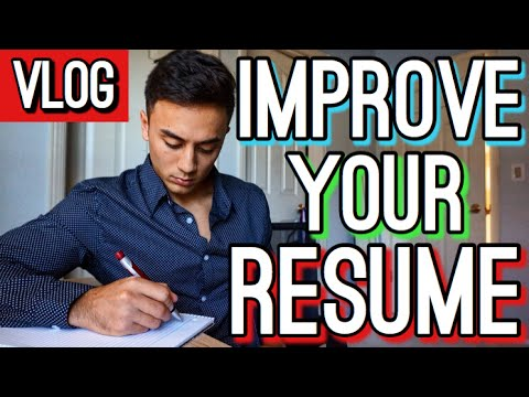 How to Improve Your Resume Over the Summer! (PreMed/ PreHealth Focused)