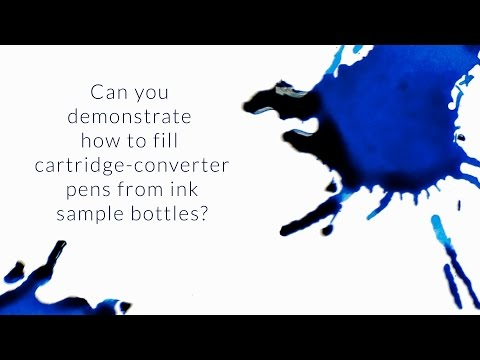 Can You Demonstrate How To Fill Cartridge-Converter Pens From Ink Sample Bottles? - Q&A Slices