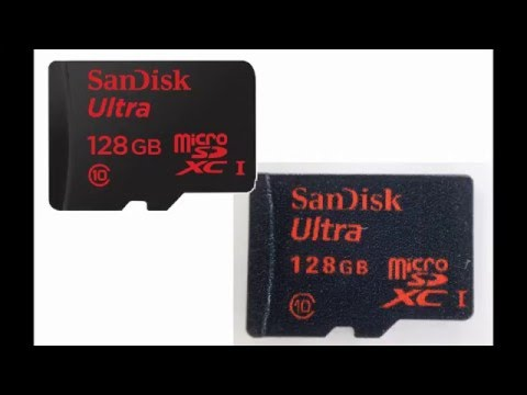 Ebay - How to spot a fake SD card.