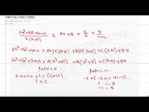 PARTIAL FRACTIONS WHEN DEGREE OF NUMERATOR IS GREATER THAN DEGREE OF DENOMINATOR IN URDU/ HINDI