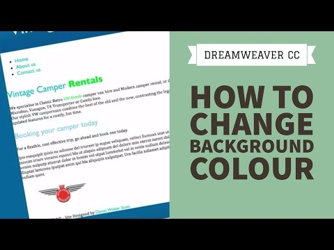 How to change background colour in Dreamweaver CC [30/34]