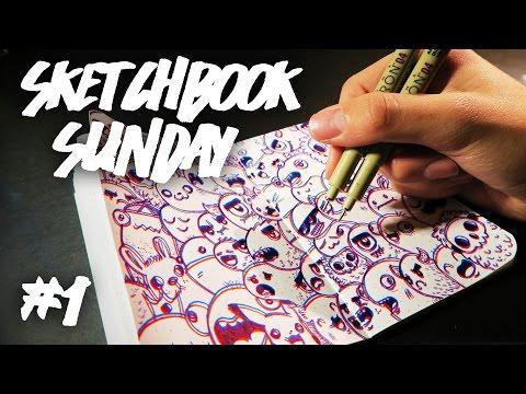 DRAWING 3D DOODLES ! | Sketchbook Sunday #1