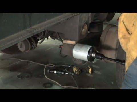 Hendrickson suspension bushing replacement on semi trailer