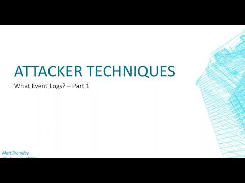 What Event Logs  Part 1  Attacker Tricks to Remove Event Logs