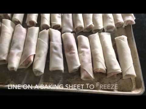 How to make Lumpia and how to tightly wrap your Filipino Lumpia or Filipino Spring rolls