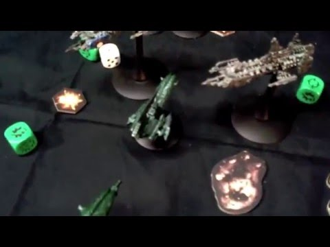 Ships in Space! - Battle Fleet Gothic - Battle Report - The Dark Eldar vs Space Marines