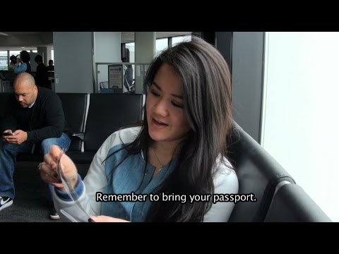 Buying an Airplane Ticket, Airport and Passport! English and Burmese phrases