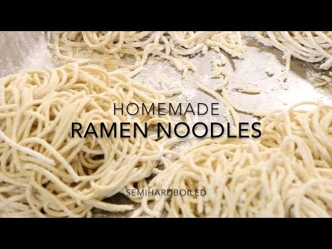 Homemade Japanese Ramen Noodles From Scratch