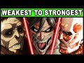 Download   The 9 Titan Shifters Ranked From Weakest To Strongest! (attack On Titan / Shingeki No Kyojin) MP3,3GP,MP4