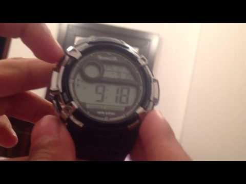 How to set an alarm on a four button watch