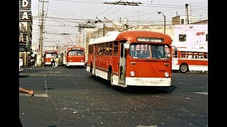 Mexico City Trolleybus Scenes - Early 1970s
