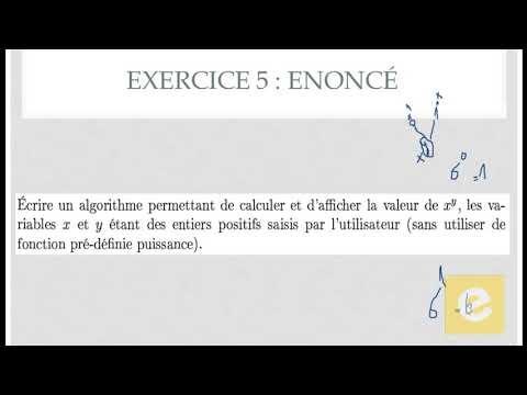 20 Algorithmique : Exercice  5