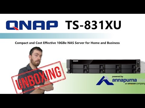 The QNAP TS-831XU Rackmount Dual 10GbE NAS 8-Bay Unboxed and Discussed