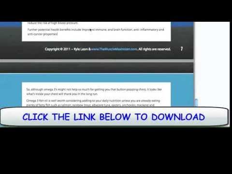 Full Free Somanabolice Muscle Maximizer PDF