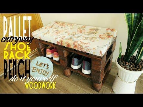 DIY - pallet entry bench-shoerack