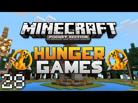 Minecraft: Pocket Edition Hunger Games #28   Invert Y-Axis Challenge