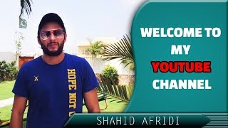 Shahid Afridi Announces his Youtube Channel