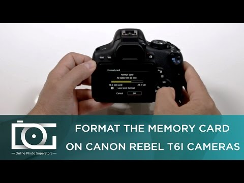 TUTORIAL | How to Format The Memory Card on A CANON Rebel T6i Cameras
