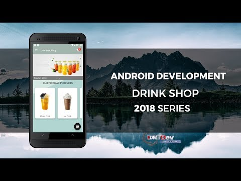 Android Development Tutorial - Drink Shop App part 10 Display Cart icon with notification badge