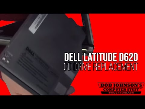 How to replace the CD drive in a Dell latitude D620 Laptop