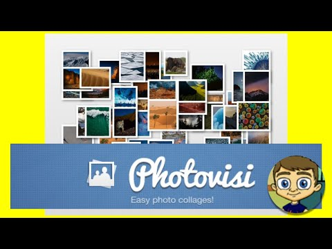 Photovisi - Free and Easy Collage Maker - 2017 Tutorial
