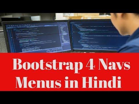 Learn Bootstrap 4 Tutorial in Hindi | Bootstrap 4 Navs Menus in Hindi