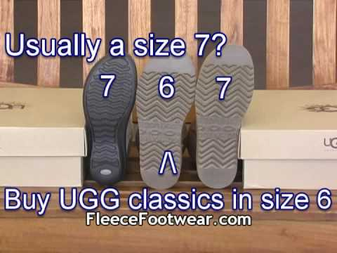 UGG Australia Classic Collection Sizing Tips - FleeceFootwear.com